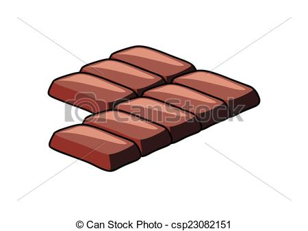 Clipart Vector of Chocolate Pieces Vector.