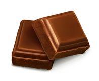 Chocolate Pieces Stock Illustrations.