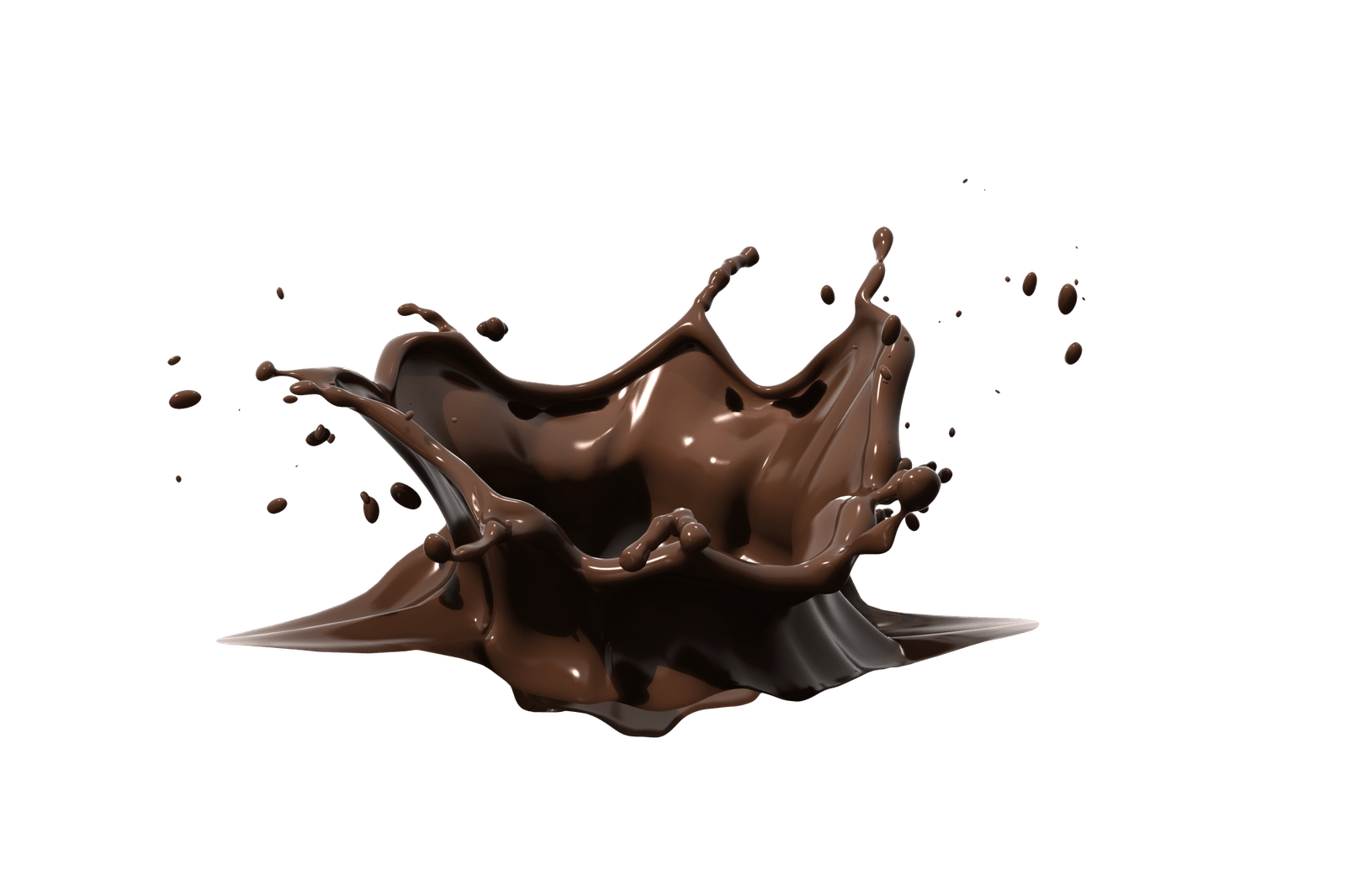 Chocolate Splash transparent PNG.