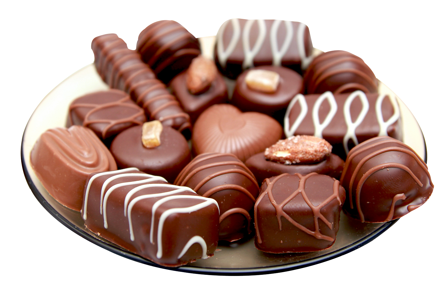 Chocolates in a Plate PNG Image.
