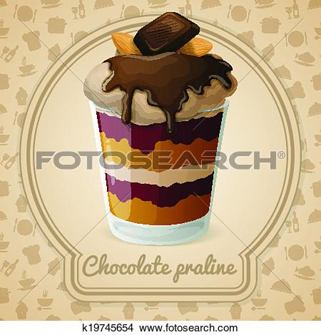 Clipart of Chocolate praline poster k19745654.