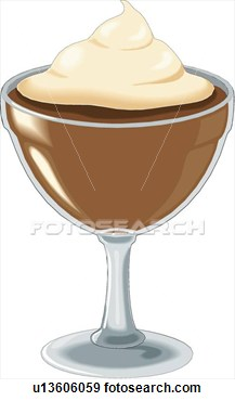 Clip Art Chocolate Pudding Clipart.