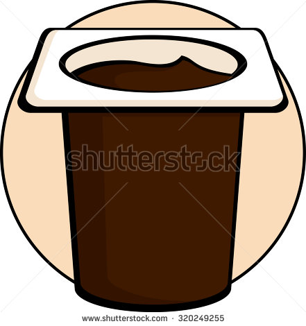 Pudding cup clipart.