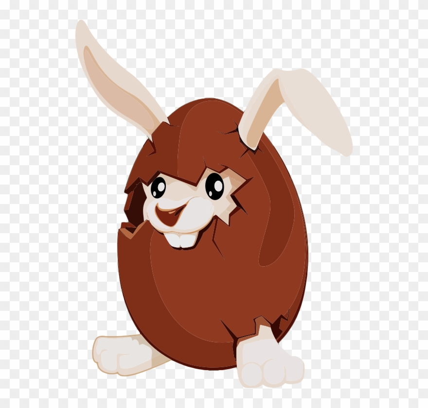 Free Chocolate Bunny Clipart.