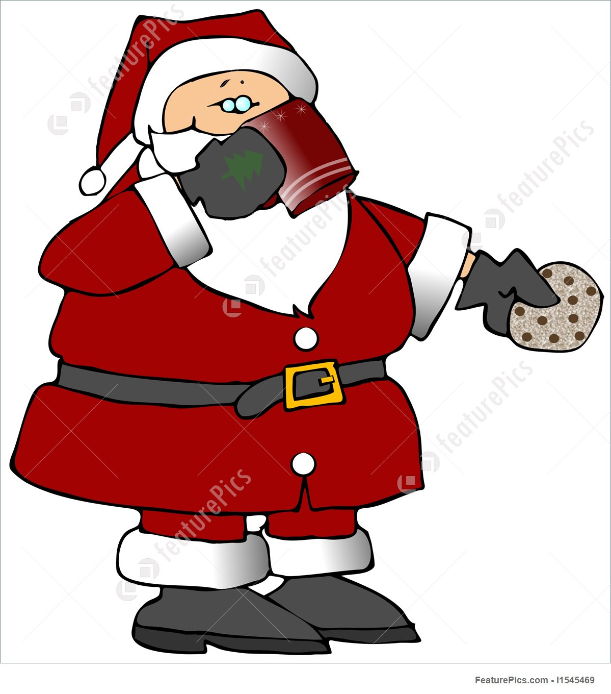 A chocolate santa clipart.