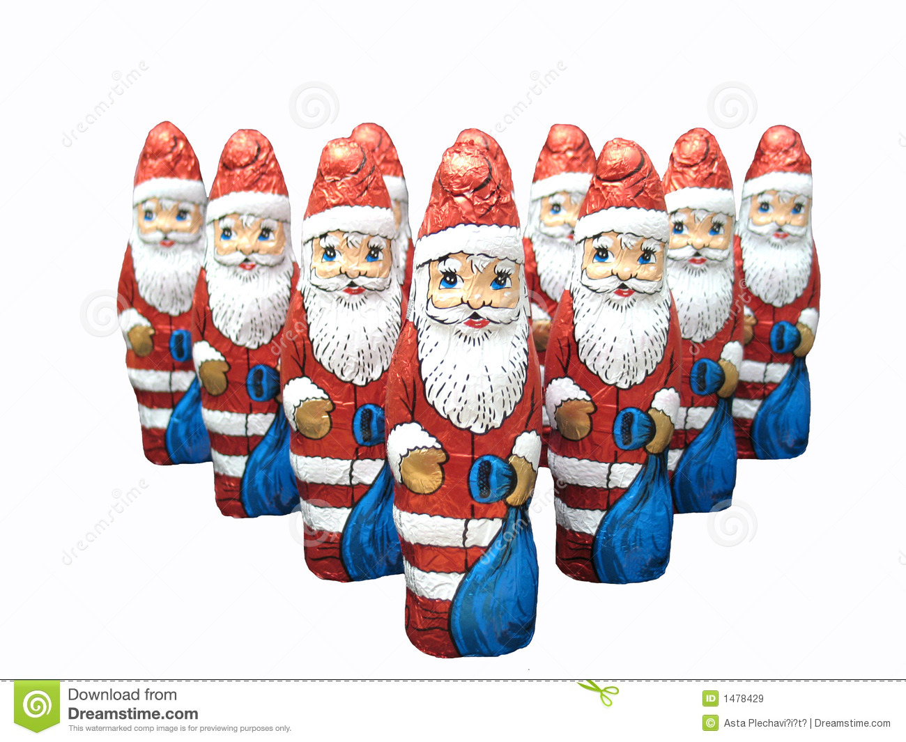Chocolate santa claus clipart #3
