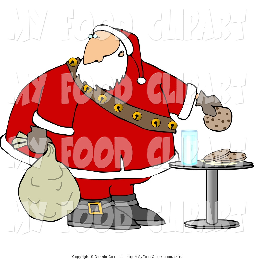 Santa Food Clipart.