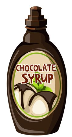 Chocolate syrup clip art.