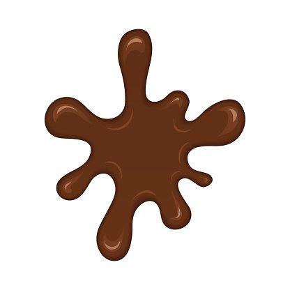 Chocolate splash blot Clipart Image.