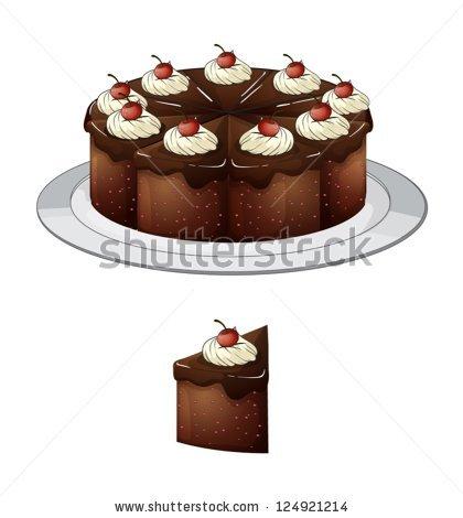 Cartoon Chocolate Cake Stock Photos, Royalty.