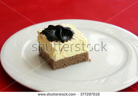 Lemon Cake Served Slices Stock Photos, Royalty.