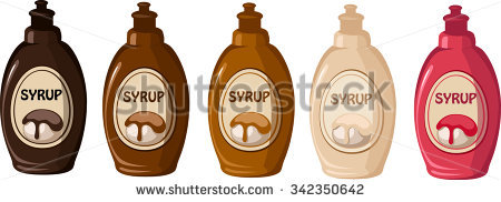 Chocolate Syrup Stock Images, Royalty.