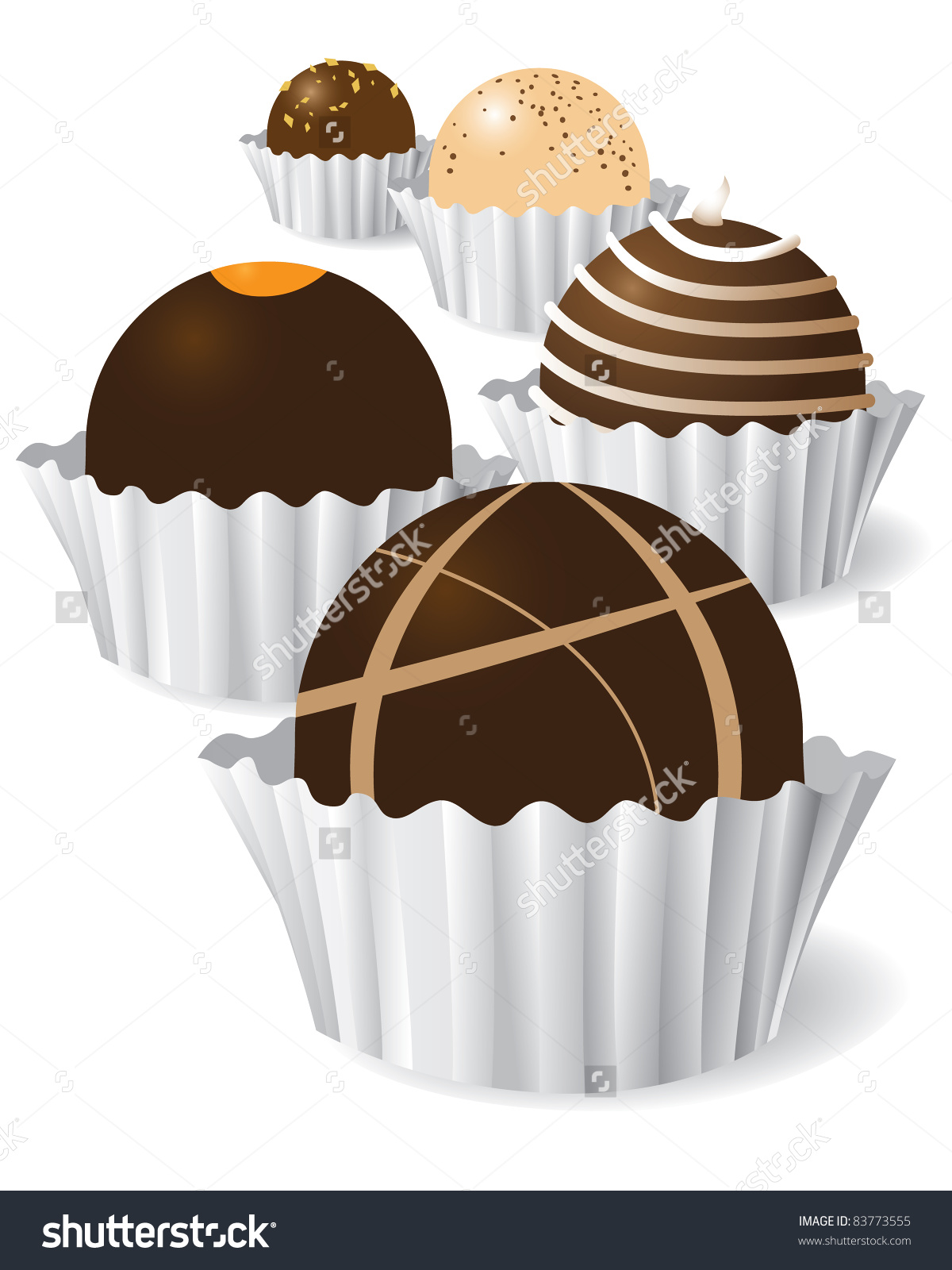 Chocolate truffles clipart #1
