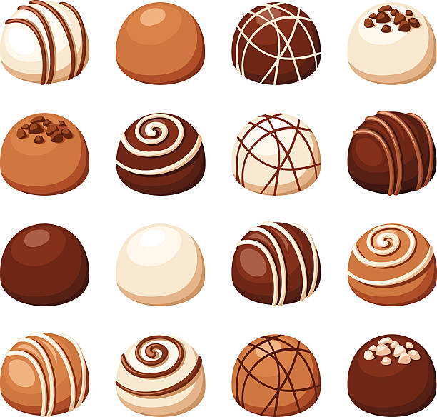 Chocolate Truffle Clip Art, Vector Images & Illustrations.