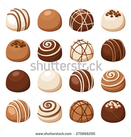 Truffles chocolates clipart #11