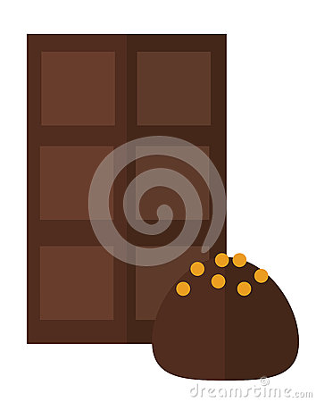 Chocolate Truffle Illustration Royalty Free Stock Image.