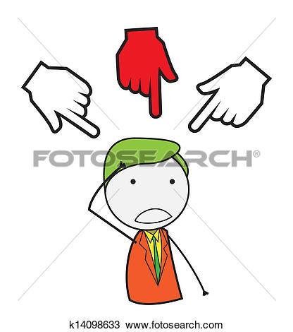 Clipart of businessman hand chosen k14098633.