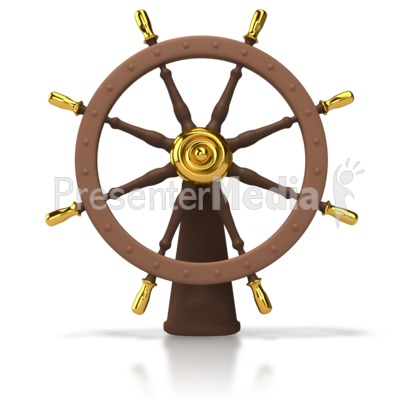 Ships Helm Clipart.