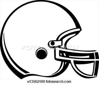 Football Helmet Drawing Front View.