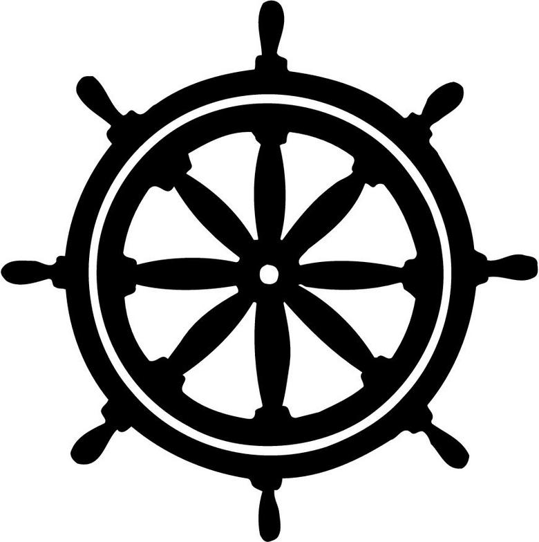 Ship helm clipart.