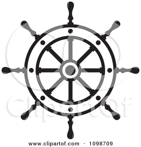 Ship helm clipart.