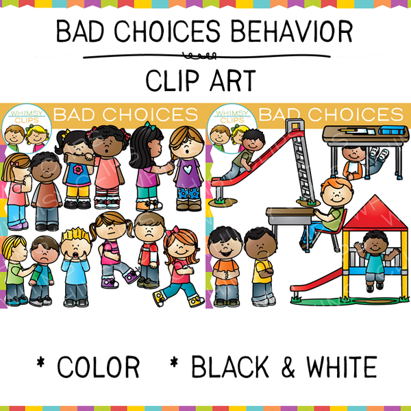 Bad Choices Clip Art.