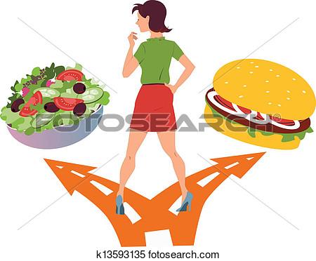 Food choices clipart.