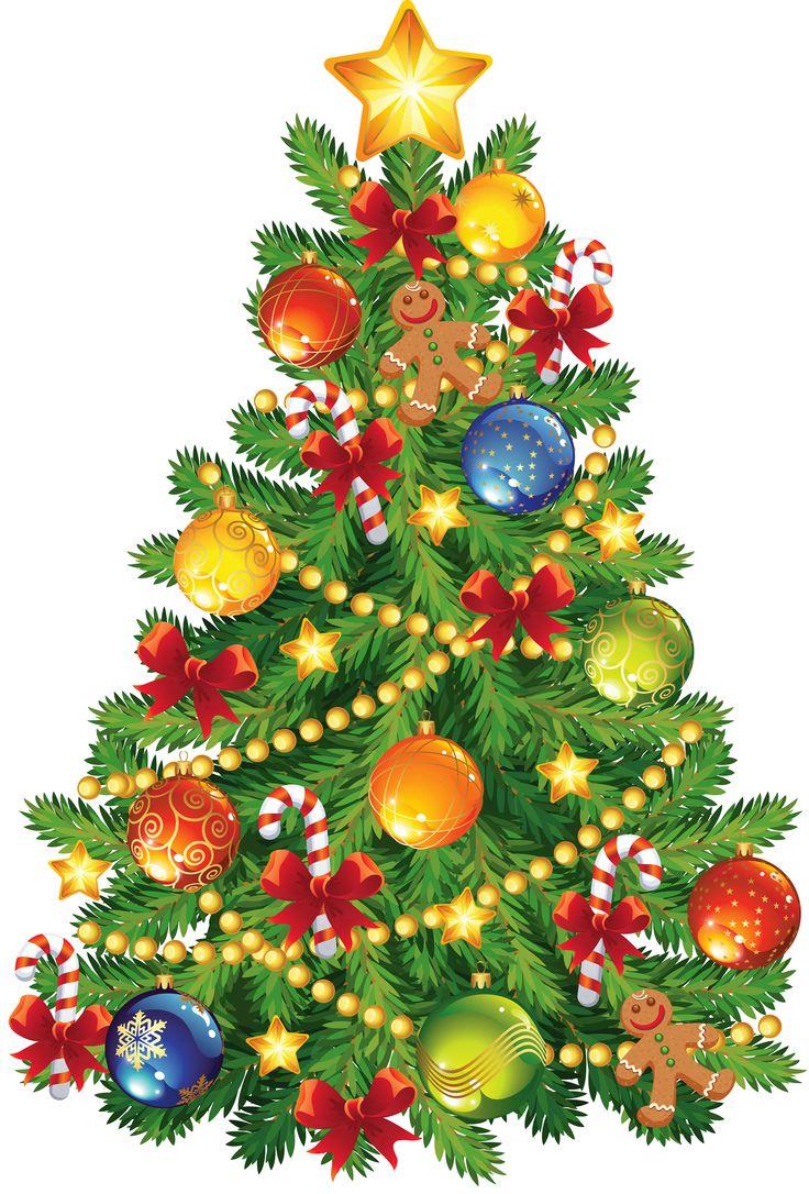 Christmas tree clip art large clip choinka.