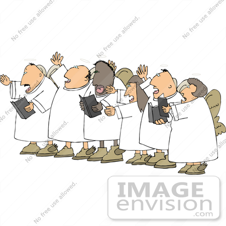 Angel Choir Clipart.