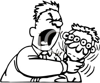 Man choking clipart.