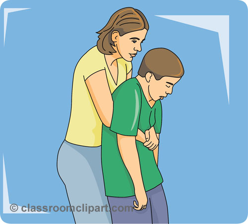 Clipart images of choking.
