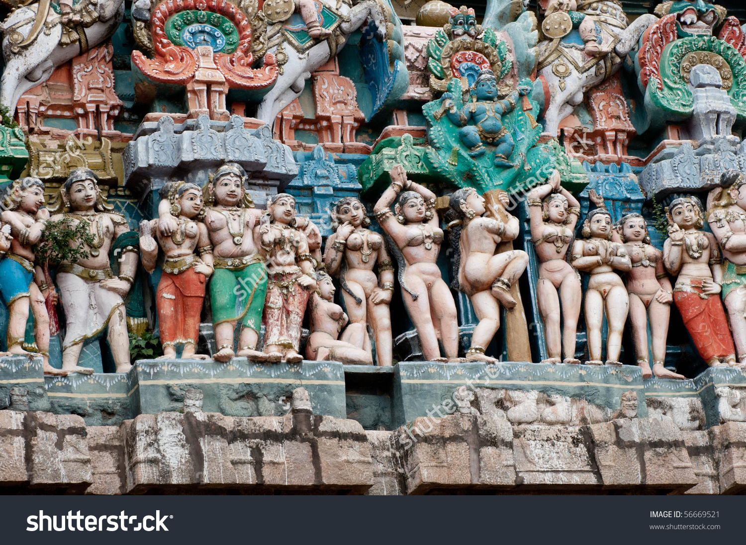 Chola Kings Architecture South Indian Temple Stock Photo 56669521.