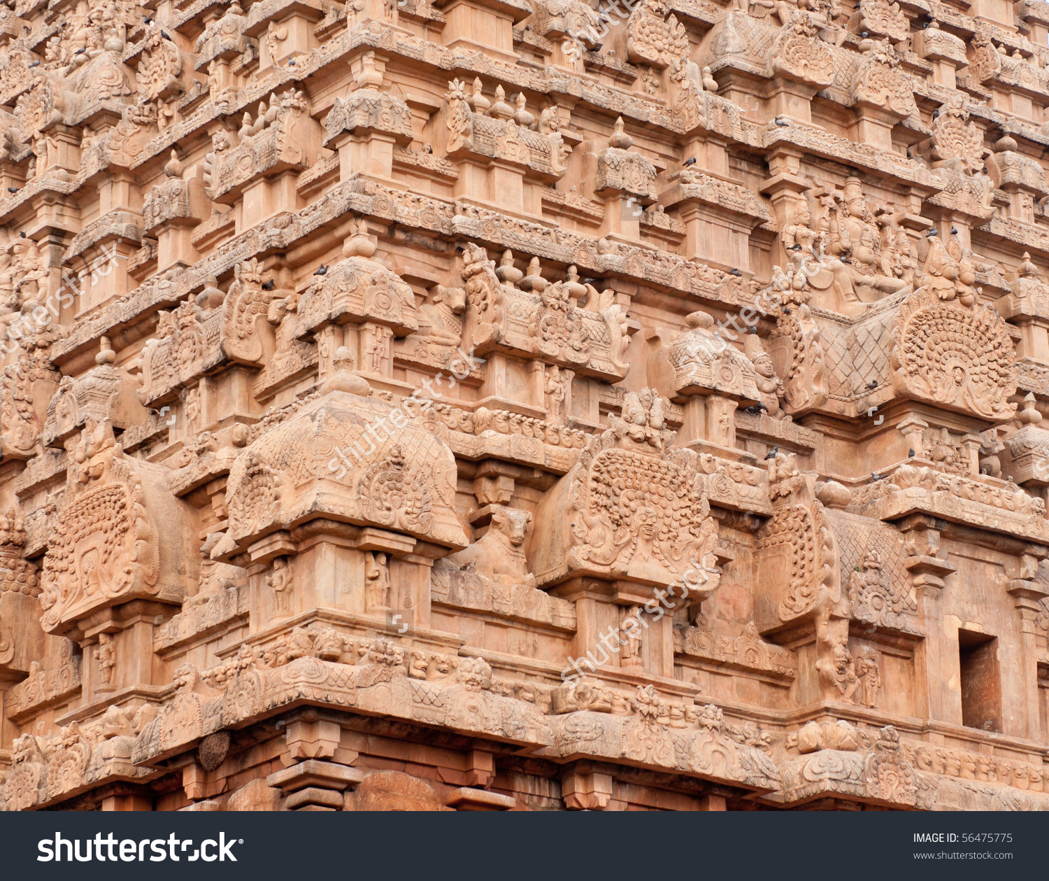 Ancient Tamil Architecture By Chola Kings Stock Photo 56475775.