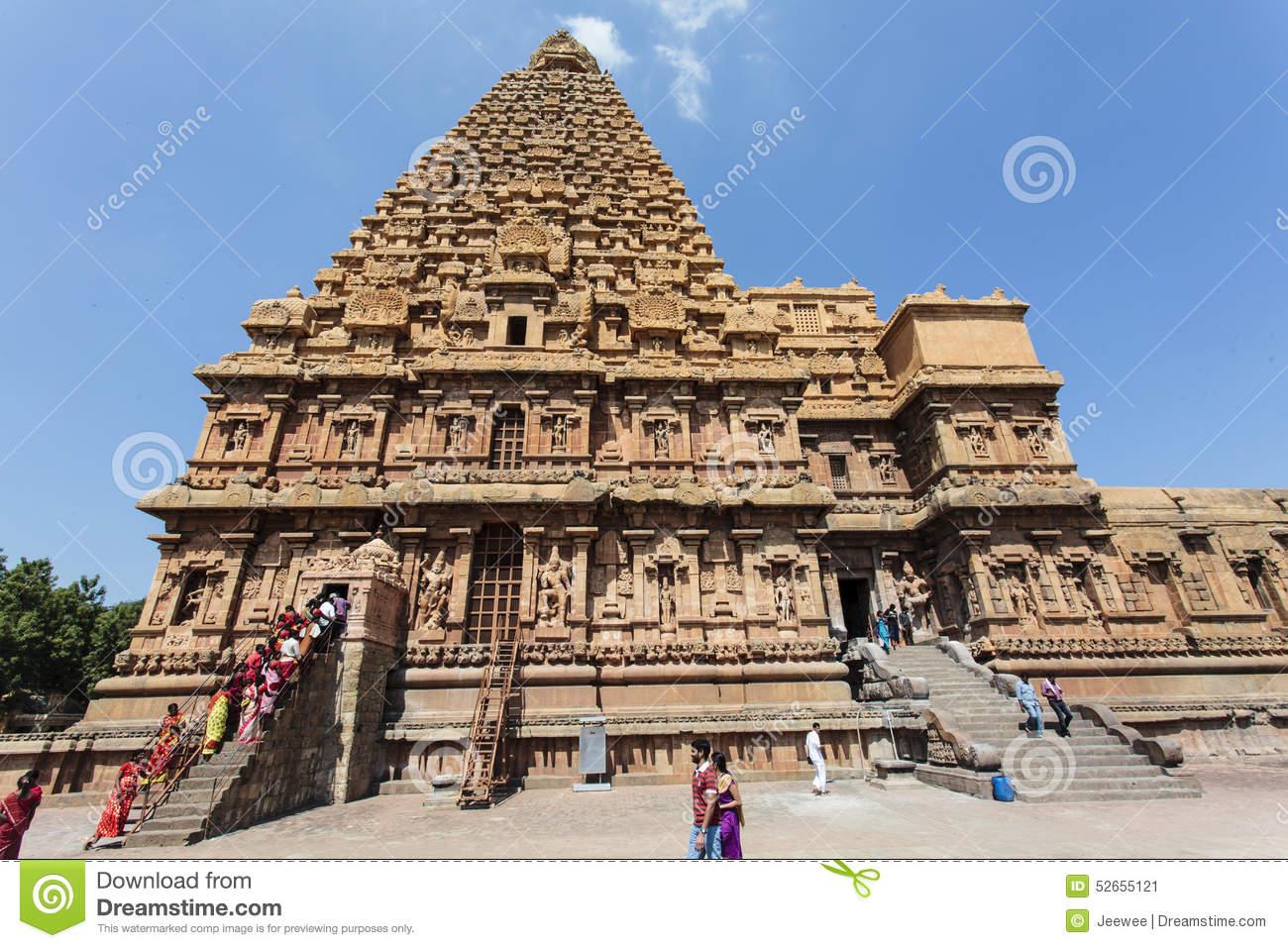 Inside The Brihadishwara Temple In Tanjore (Thanjavur) In Tamil.