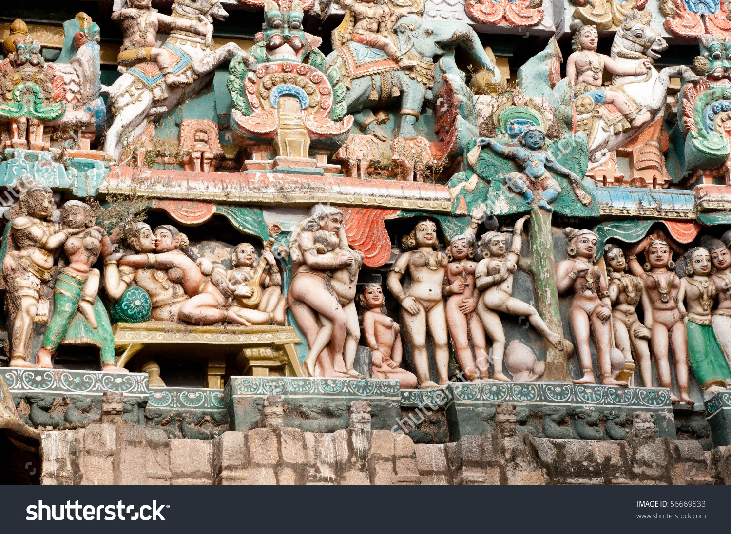 Chola Kings Architecture South Indian Temple Stock Photo 56669533.