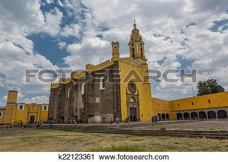 Stock Photography of Convento de San Gabriel, Cholula k22123361.