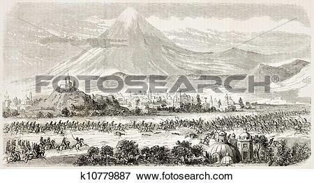 Stock Illustration of Cholula battle k10779887.