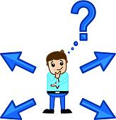 Clipart of confuse to choose right way k20593091.