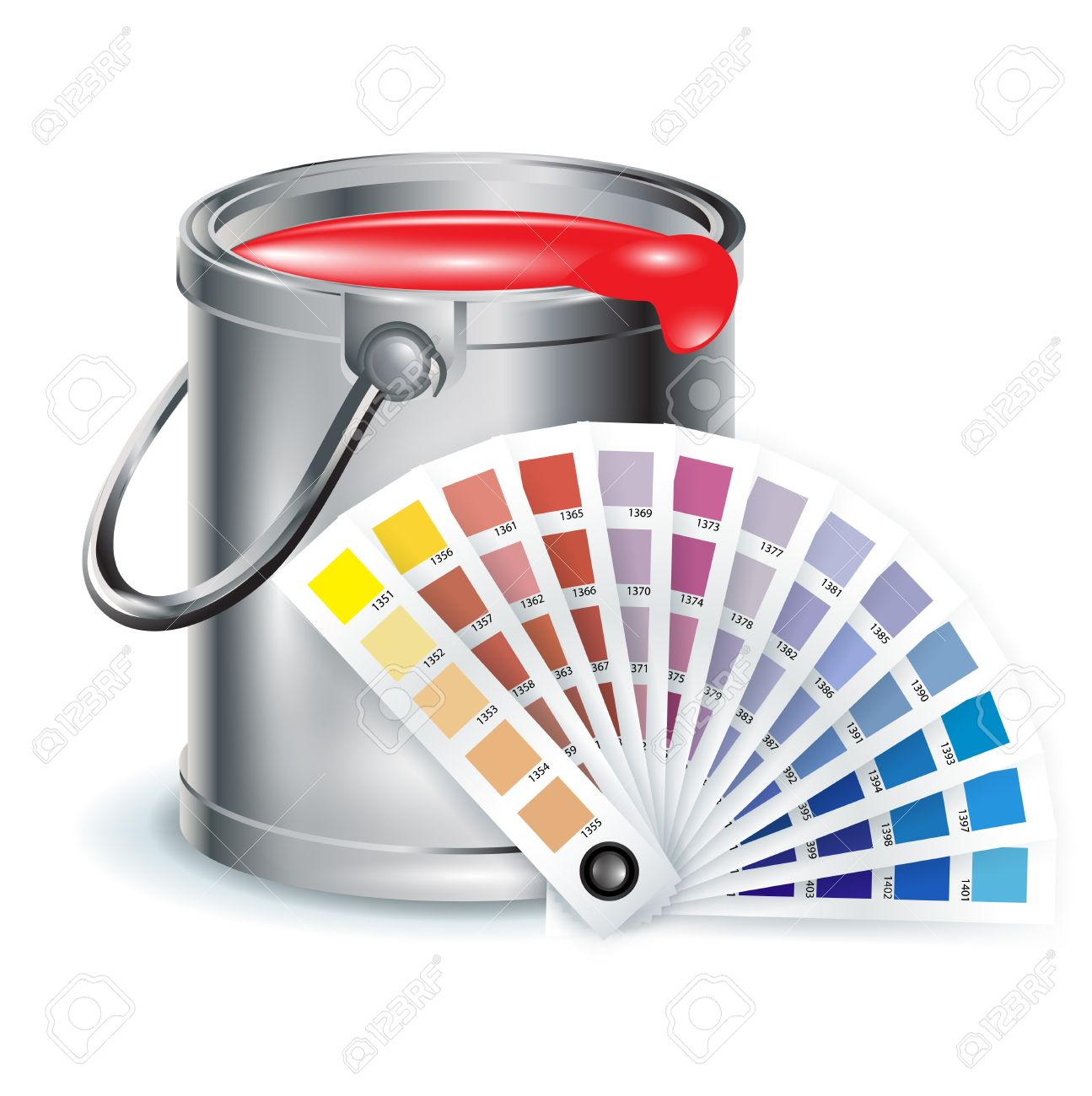 Art And Decoration Items; Pait Bucket With Color Chooser Royalty.