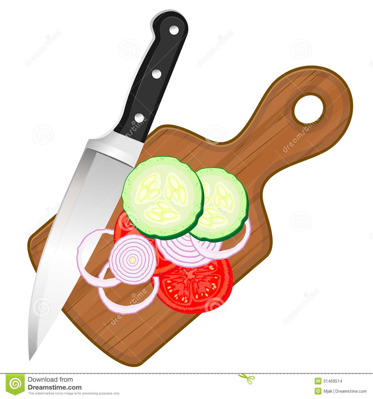 Chop vegetables clipart.