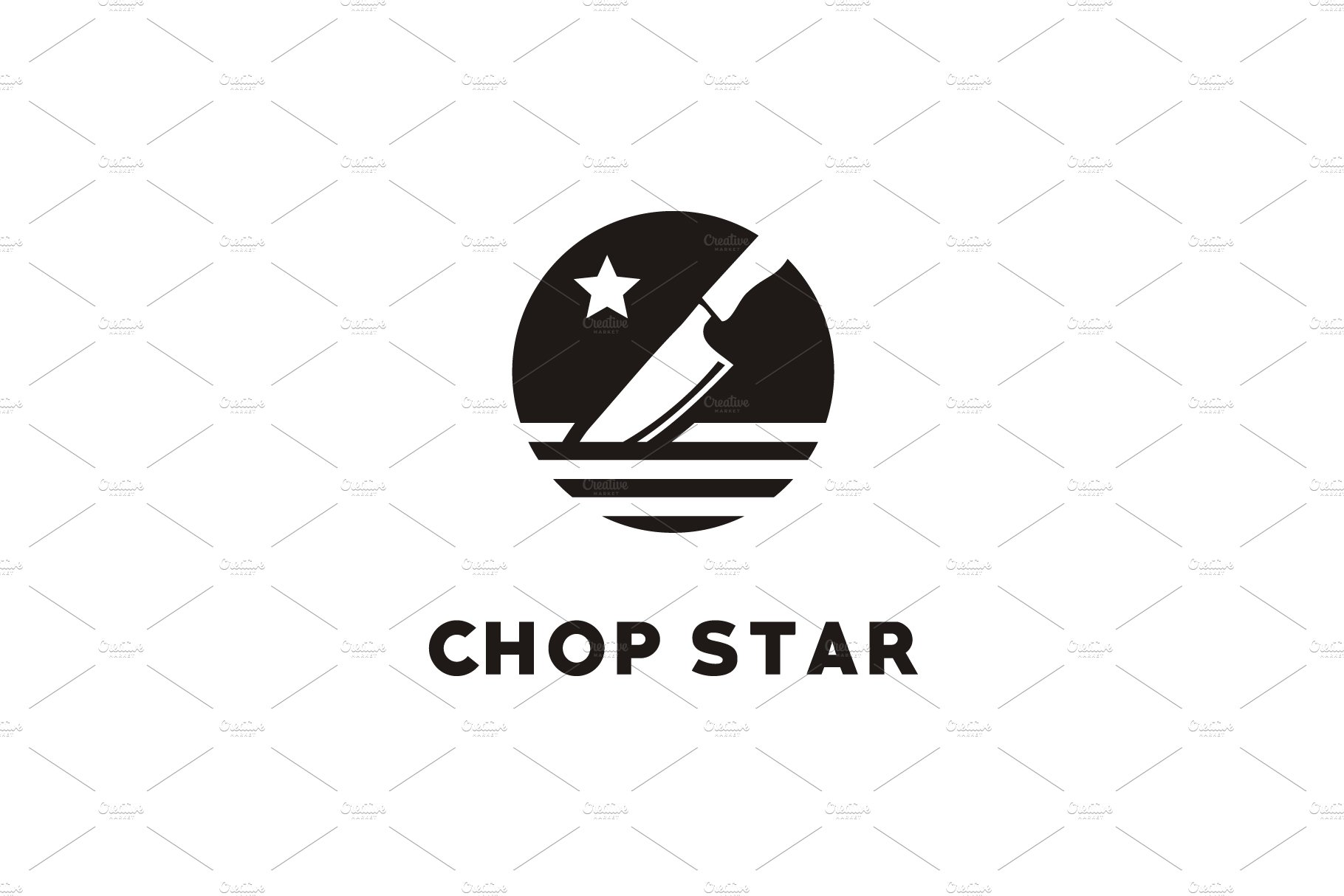 Chop Star / Chef Knife logo design.