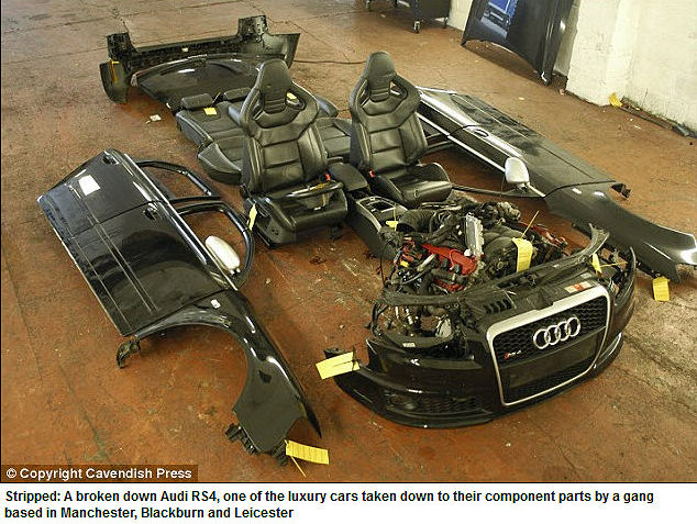 Chop Shop Busted Selling Stolen Luxury Car Parts On eBay.