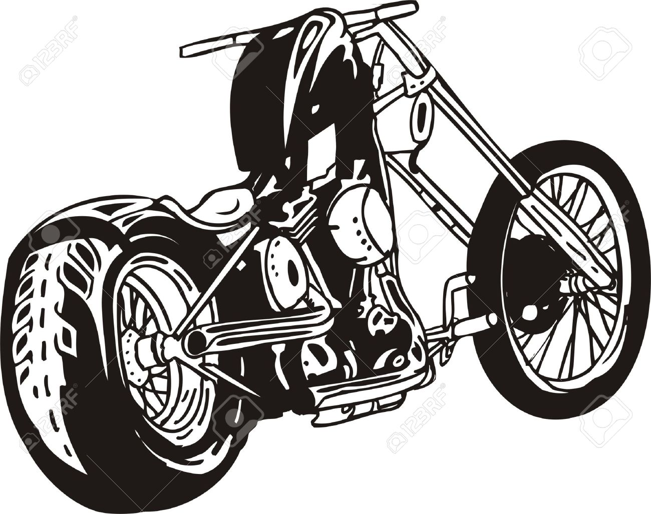 Harley. Vector Illustration. Royalty Free Cliparts, Vectors, And.
