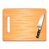 Wood Cutting Board Clip Art, Vector Wood Cutting Board.
