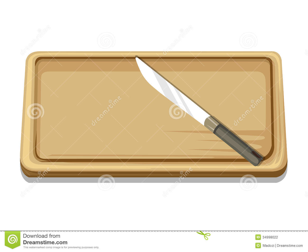 Wooden Chopping Board Stock Illustrations.
