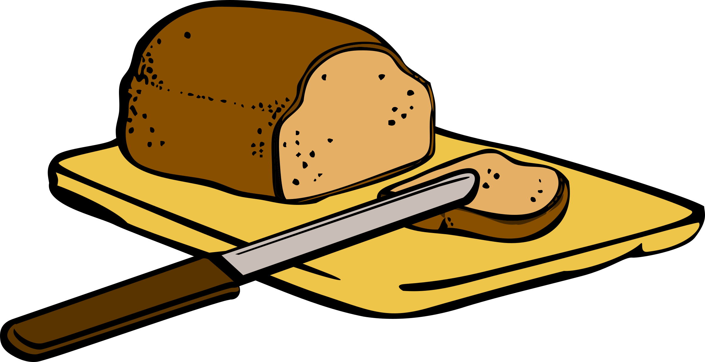 Chopping Board and Knife Clip Art.