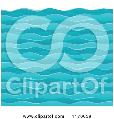 Cartoon of a Background of Choppy Ocean Waves.