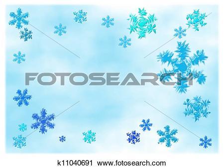 Clipart of Choppy snowflakes k11040691.