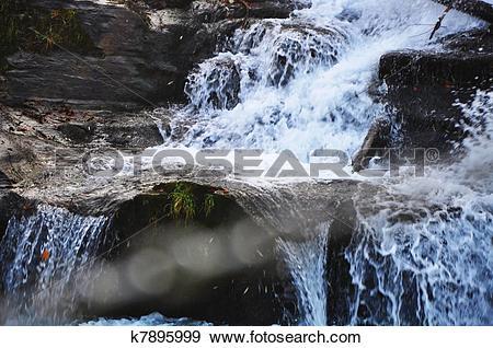 Stock Photograph of choppy water k7895999.