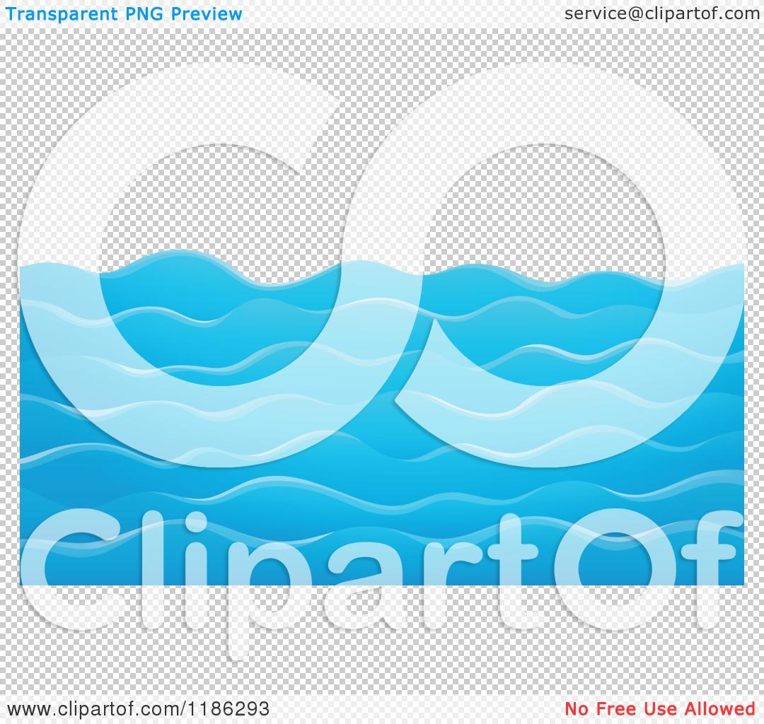 Cartoon of Choppy Blue Water Waves.